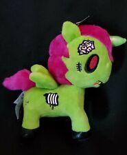 """Tokidoki Milo Unicornio Unicorn Plush Toy Zombie Halloween Pink Green NWT 7"""""""