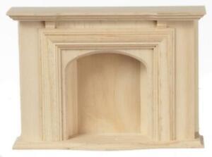 Dolls House Jamestown Fireplace Unfinished Bare Wood Miniature Furniture