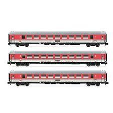 Vagones de mercancías de escala N grises para modelismo ferroviario