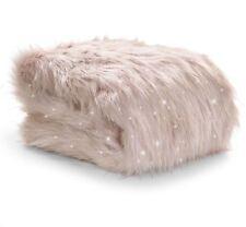 Catherine Lansfield Metallic Fur Throw Blush 130x170cm