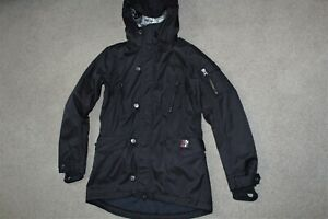 Womens Sz Medium Burton Electra Black Waterproof Jacket Ski Snowboard Coat Hood