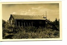 Wooden Barn Like Building-Bird Coop? Birds on Roof-RPPC-Real Photo Postcard