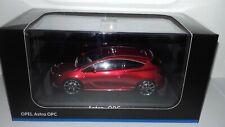 iScale 1:43 Opel Astra J OPC 2006 metallic-rood nieuw in Opel dealer display doo