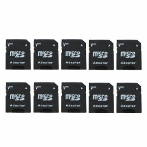 10Pcs Micro SD Trans Flash TF To SD SDHC Memory Card Adapter Black Converter
