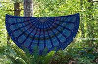 Round Mandala Tapestry Wall Hanging Indian Yoga Mat Tapestry Boohoo Beach Throw