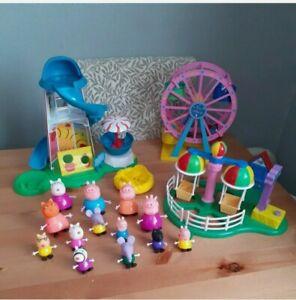 Peppa pig bundle - Ferris Wheel Balloon ride Helterskelter Figures