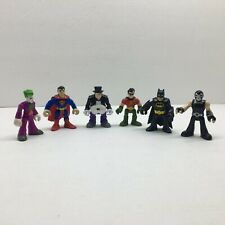 Dc Comics 3 Inch Action Figures Lot Of 6 Batman, Robin, Joker, superman