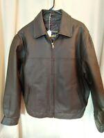 AIRBORNE LEATHERS mens DARK BROWN coat jacket sz Medium NWOT