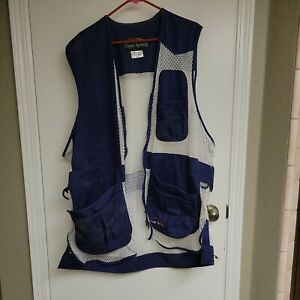 XXXL Trap Shooting Vest Classic Brand Color Blue