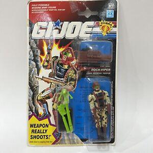 1992 Hasbro Gi Joe European Exclusive Weapon Really Shoots Rock Viper MOC