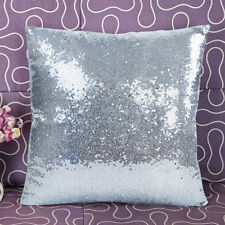 Glitter Sequins Throw Pillow Case Home Car Decor Waist Cushion Cover Solid Kit