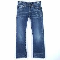 THE BUCKLE BKE Jeans Women's size 26S Aiden Boot Leg Cut Dark Blue Embroidered