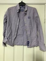 Superdry S&D Shirt Long Sleeve Purple Size Small S WoMens Great Cond (D976)