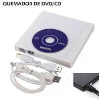 External USB Slim CD/DVD Player Burner Writer Drive All PC and Mac BH