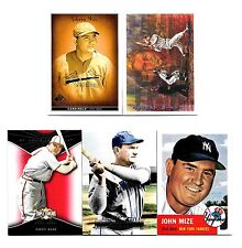 Johnny Mize 5 dif Lot: 2009 Topps Triple Threads #'d /1350, 2011 Topps Marquee +