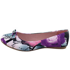 Women's Synthetic Flats in Floral Pattern