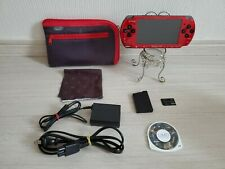 SONY Playstation Portable Console PSP-3000 Red & Black Japan Pouch Cloth #A39