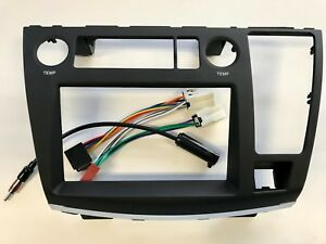 Double Din Fascia for 2004-2007 Nissan Elgrand E51 Series 2 with wiring harness