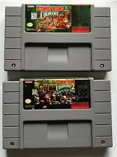 Donkey Kong Country 1 & 2: Diddy's Kong Quest (Super Nintendo SNES)