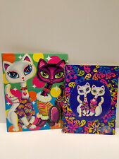 LISA FRANK Vintage Cats Cat Pair Roxi Rollie Pocket Folder SPIRAL NOTEBOOK