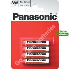 4 x Panasonic AAA Zinc Carbon Batteries - LR03, MX2400, MN2400, MICRO