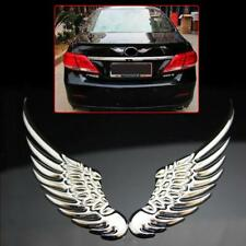 Silver Angel Wings Car Window Bumper Body Badge Sticker Decal Emblem 3D