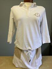 NWT GOLFINO Ladies Pique UV Dress 2339820 100 White Sz 8 10 12 NEW