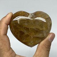 "161.9g,2.3""x2.7""x1.1"" Natural Red Quartz Heart Crystal Reiki Energy,B3425"