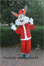 Christmas Easter Bugs Bunny Mascot Costumes Rabbit Dress Parade  Animal Jumpsuit