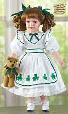 IRISH EILEEN PORCELAIN DOLL SHAMROCK DRESS HERITAGE SIGNATURE COLLECTION NEW