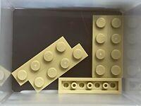 LEGO Parts - Tan Plate 1 x 4 - No 3710 - QTY 5