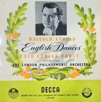 "MALCOLM ARNOLD - ENGLISH DANCES UK 10"" VINYL LP"
