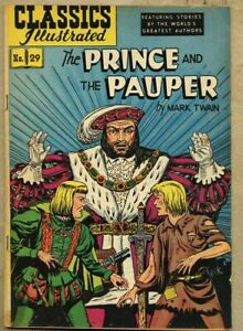 Classics Illustrated #29-1949 fn- 5.5 2nd edition Twain Prince And The Pauper