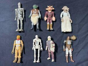 Vintage Star Wars Kenner 8 Figure Lot #8 - Ne'er Do Wells (Jabba's Cohorts)