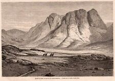 COUVENT STE CATHERINE CONVENT MONT SINAI MOUNT EGYPTE EGYPT IMAGE 1864 ENGRAVING