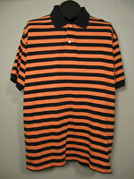 J. Crew Polo Golf Shirt Mens L Blue Orange Striped