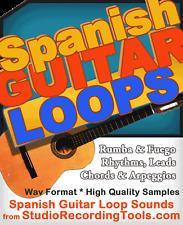 Spanish AUTHENTIC Acoustic Guitar Classical Sound Sample Wav Fuego Rumba LOOP CD