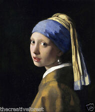 GIRL WITH A PEARL EARRING Vermeer Giclee CANVAS PRINT 24x28 in.