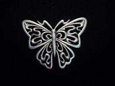 "Pewter 'Squiggle Butterfly' Pin ""Jj"" Jonette Jewelry Silver"