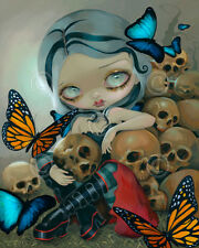 ART PRINT - Butterflies and Bones by Jasmine Becket-Griffith 14x11 Gothic Poster