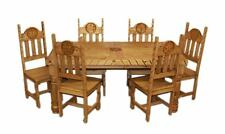 Rustic Star Rope Dining Room Set Western Cabin Lodge Real Solid Wood