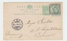 CAPE OF GOOD HOPE 1907, PAARL-DETMOLD ½d CARD+½d ADDED (SEE BELOW)
