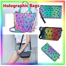√New Geometric Handbag Luminous Women Tote Bag Holographich Purses and Handbags