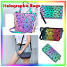 √New Geometric Handbag Luminous Women Tote Bag Holographich Purses and Handbags