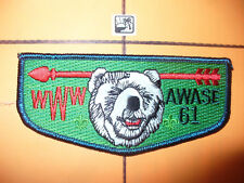 OA Awase Lodge 61,S?,2000s,Nimat,Guide,Teal Border Flap,156,244,635 Kon Wapos,WI