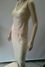 HARRY WHO Size 8 Ivory Velour Silk Bodice Top & Tube Skirt SET Designer RRP $345