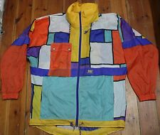 Vintage HH HELLY HANSEN Mens Multi-Colour Waterproof Jacket UK Size S Oversized