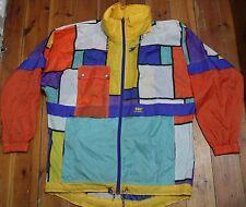 Vintage HH HELLY HANSEN Mens Multi-Colour Waterproof Jacket UK Size S Oversized