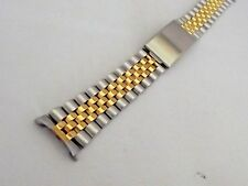 bracciale jubilee orologi acciaio bicolor compatibile rolex ansa curva 17 mm