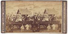 Cavalcade de Malines Belgique C. Bretagne Photogr. Louvain Vintage albumine 1866